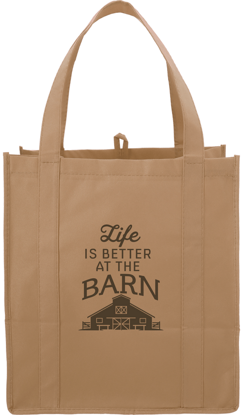 Kelley and Company Life is Better at the Barn Grocery Tote - Natural