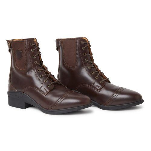 OPEN BOX: Aurora Lace/Back Zip Paddock Boot - Brown-9