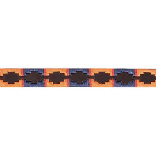 OPEN BOX: Drover Polo Belt - Navy/Orange-32