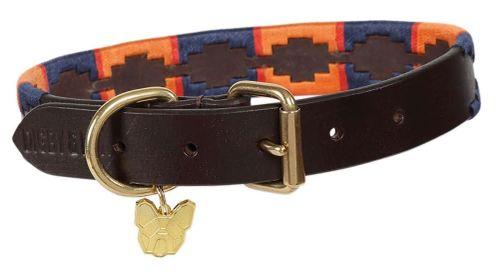 OPEN BOX: Drover Polo Dog Collar - Navy/Orange-Small
