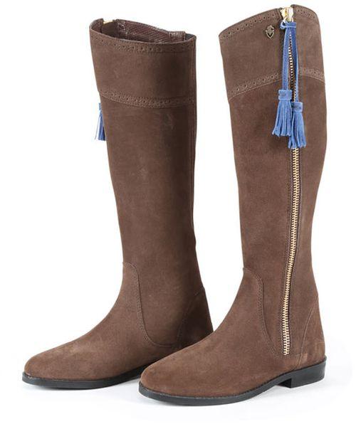 OPEN BOX: Moretta Florenza Tall Suede Boots - Brown-8 Regular