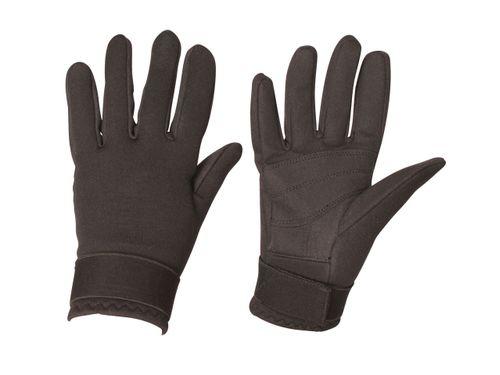 OPEN BOX: Neoprene Riding Gloves-Black-X Large