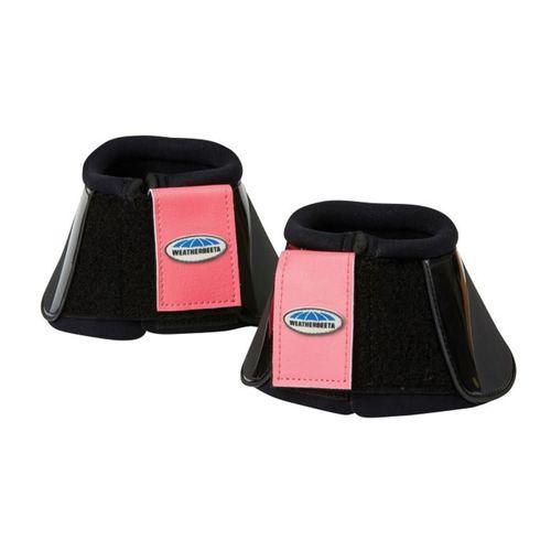Weatherbeeta Impact Bell Boots - Black/Paradise Pink
