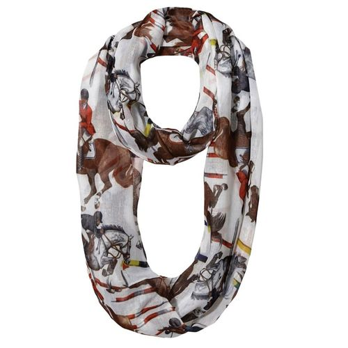 Kelley and Company Jumpers Infinity Scarf - White