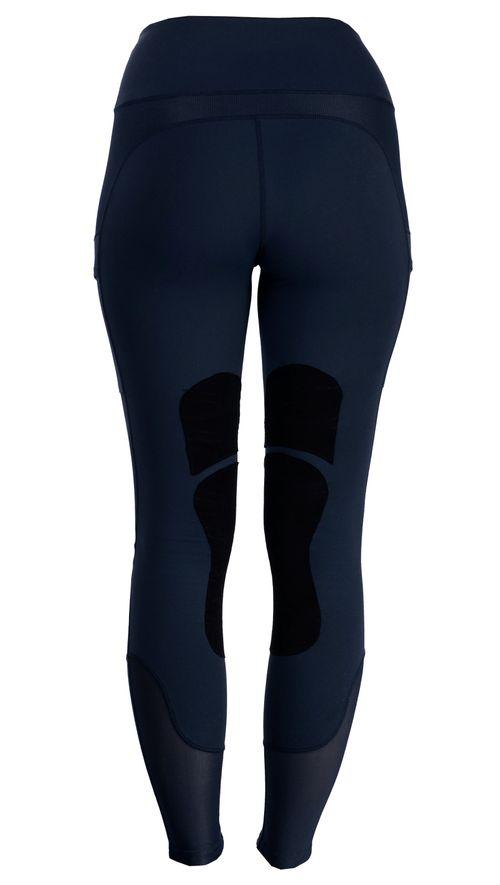 Horseware Women's Knee Patch Riding Tights - Dark Navy