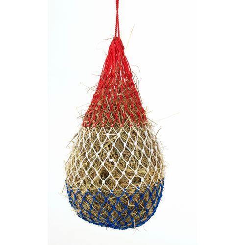 Equi-Essentials Niblet Heavy Duty PE Braid Hay Net - Red/White/Blue