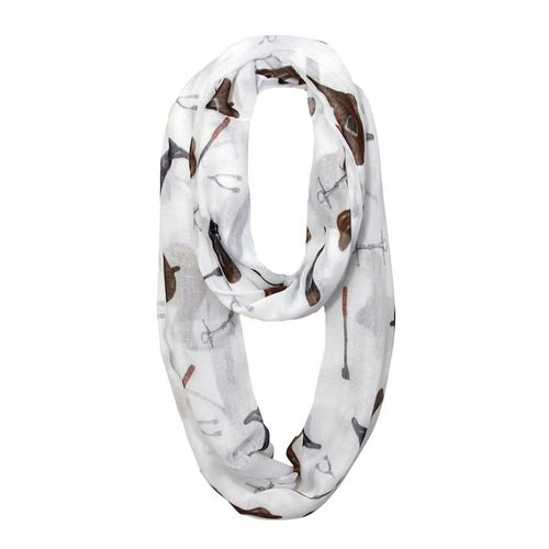 Kelley and Company Equestrian Gear Infinity Scarf -White - White