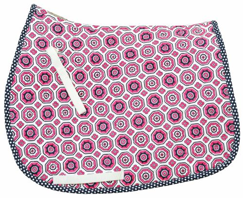 Equine Couture Kelsey All Purpose Saddle Pad - Hot Pink