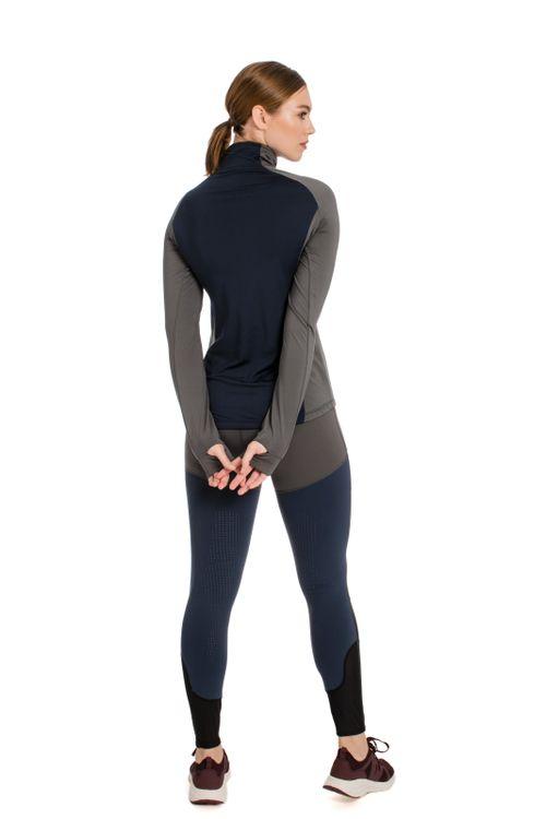 Horseware Women's Thea Tech Quarter Zip Fleece - Castle Rock/Navy