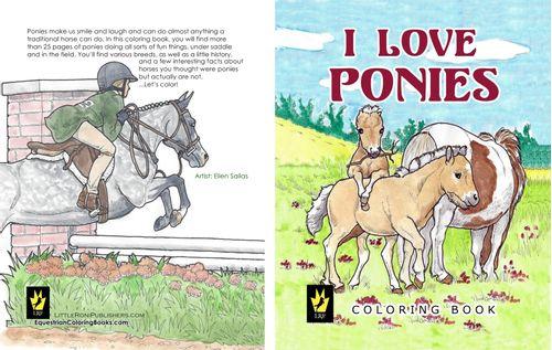 I Love Ponies Coloring Book