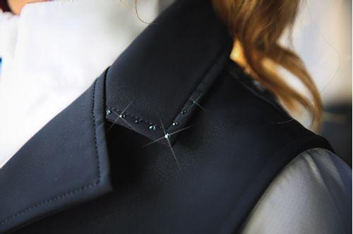 Romfh Women's Bling Silk Shell Show Vest - Black