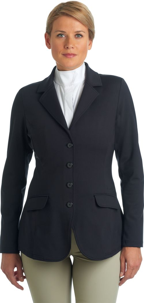 Ovation Women's Destiny 4 Button Show Coat - Navy