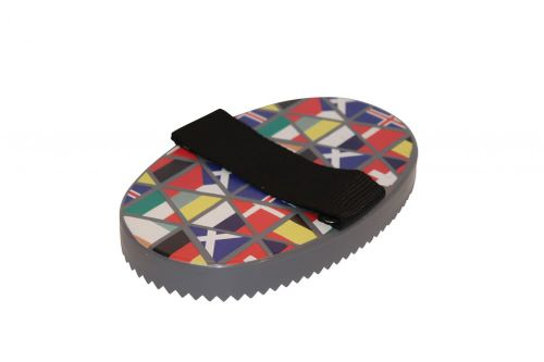 Roma Pattern Curry Comb - National Flags