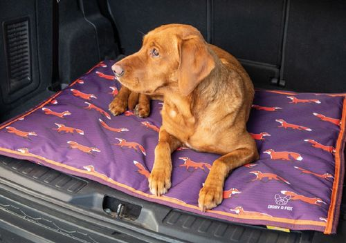 Digby & Fox Waterproof Dog Bed - Plum Fox