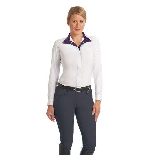 Ovation Women's Aqua-X GripTec Knee Patch Breeches - Pewter