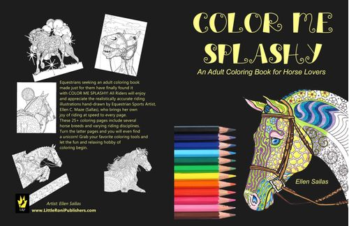 Color Me Splashy: Adult Equestrian Coloring Book