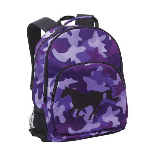 Tek Trek Camo with Galloping Horse Backpack - Purple