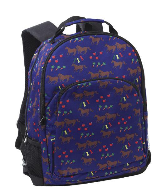 Tek Trek Horses & Apples Backpack - Blue