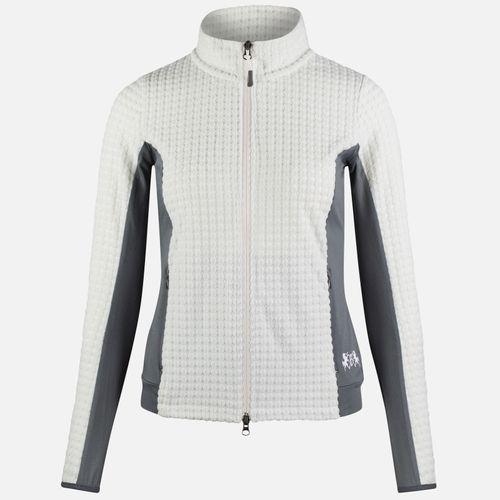 B Vertigo Women's Darcey Technical Fleece Jacket - Blanc de Blanc/Storm Front Grey