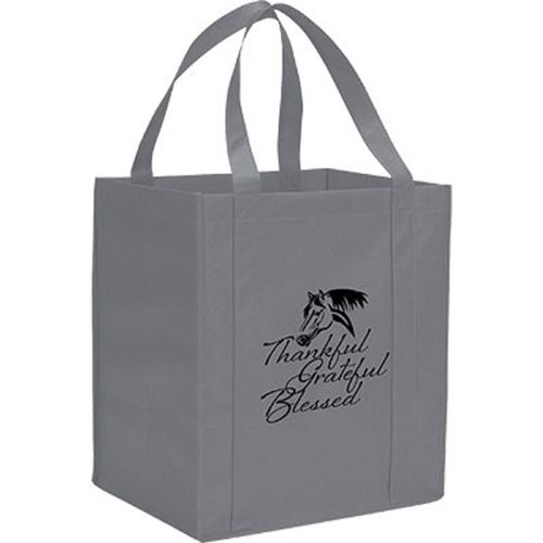 Kelley and Company Thankful Grateful Blessed Grocery Tote - Grey