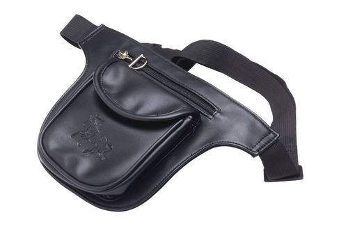 Kelley and Company Two Pocket Debossed Gallop Horse Waist Pack - Black