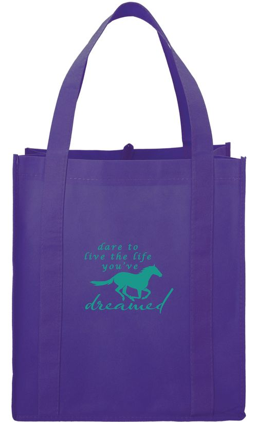 Kelley and Company Dare to Live the Life You've Dreamed Grocery Tote - Purple