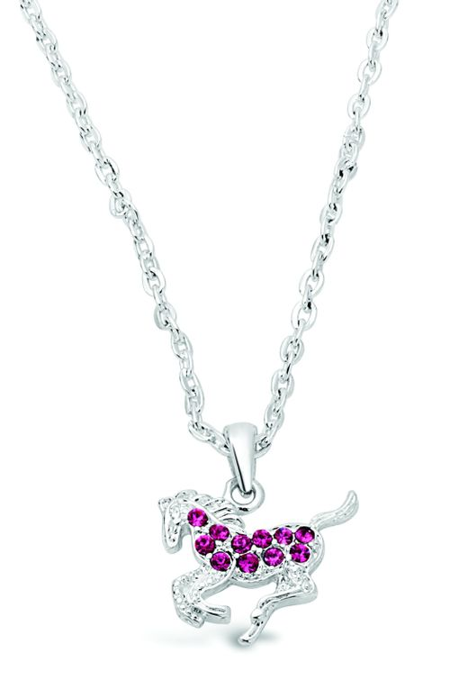 Kelley and Company Galloping Horse Necklace - Pink