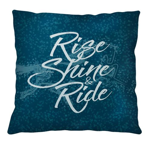 Kelley and Company Rise Shine and Ride Throw Pillow - Teal
