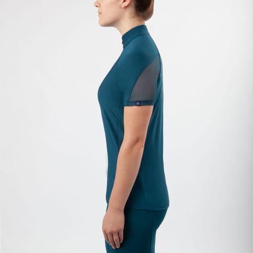 Irideon Women's Vientex Icefil Jersey Zip Front Shirt - Baltic Blue