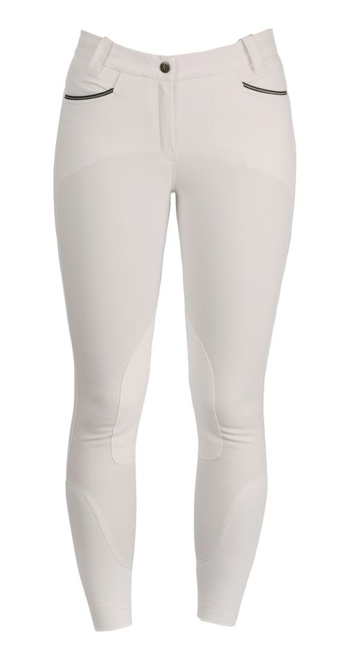Horseware Women's Knee Patch Competition Breeches - White