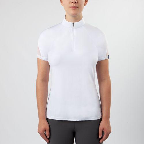 Irideon Women's Vientex Icefil Jersey Zip Front Shirt - White
