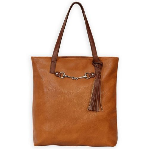 Kelley and Company Snaffle Bit with Tassel Tote Bag - Brown