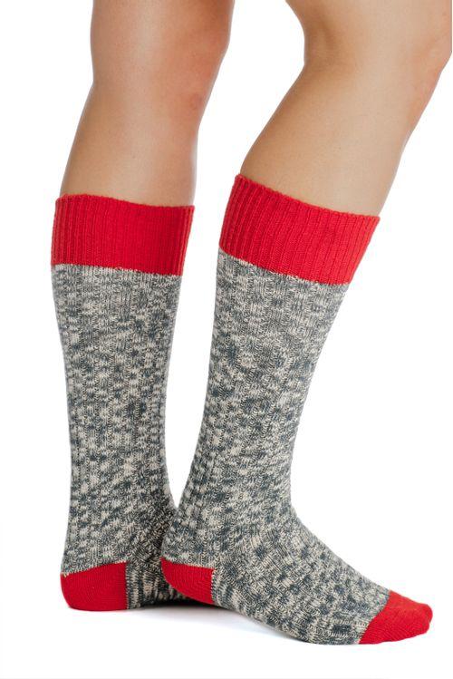 Horseware Kids' Winter Wooly Socks - Petrol Blue