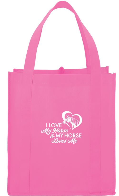 Kelley and Company I Love My Horse & My Horse Loves Me Grocery Tote - Pink