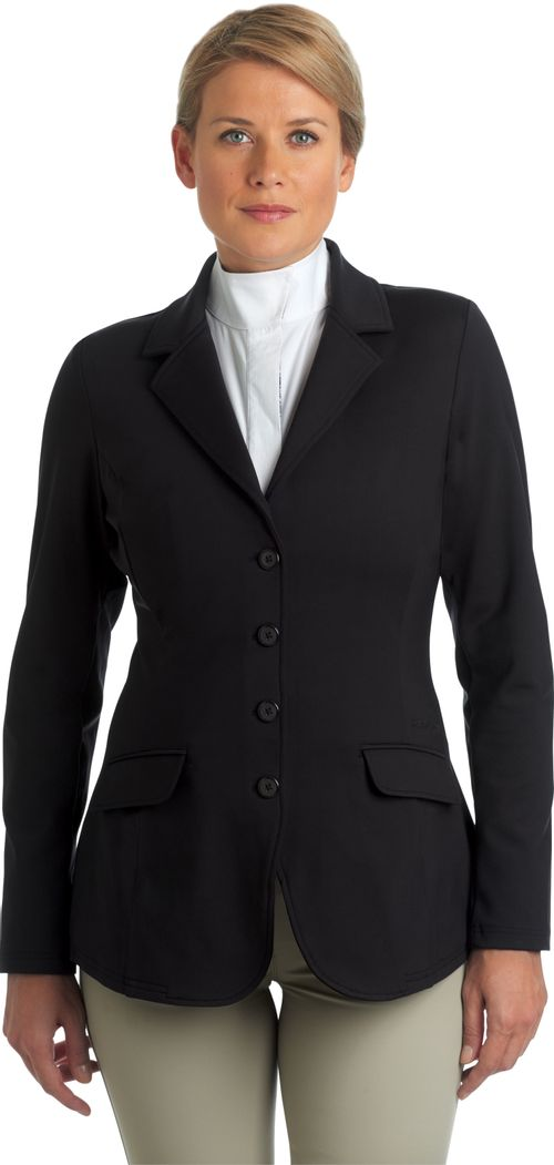 Ovation Women's Destiny 4 Button Show Coat - Black