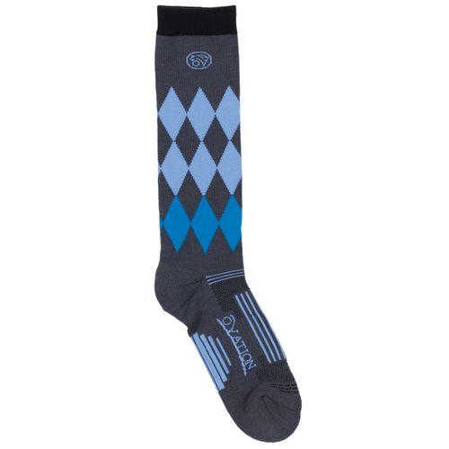 Ovation Women's Harlequin DX Knee High Socks - Grey