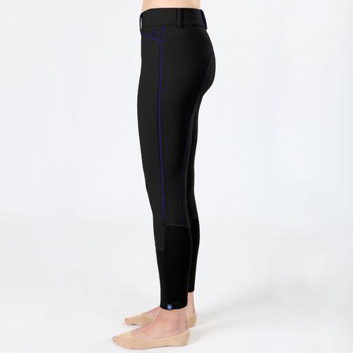 Irideon Kids' Hampshire Knee Patch Tights - Black/Azurite