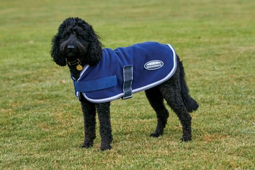 Weatherbeeta Comfitec Fleece Dog Coat - Navy/Grey/White