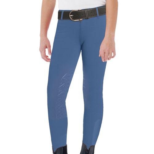 Ovation Kids' Aerowick GripTec Knee Patch Tight - Dutch Blue