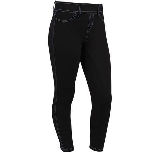 Irideon Kids' Cordova Knee Patch Tights - Black/Black
