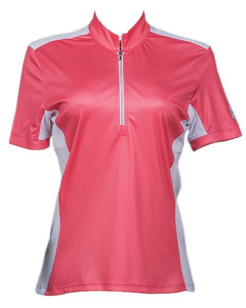 FITS Women's Cool Breeze Short Sleeve Sun Shirt - Coral