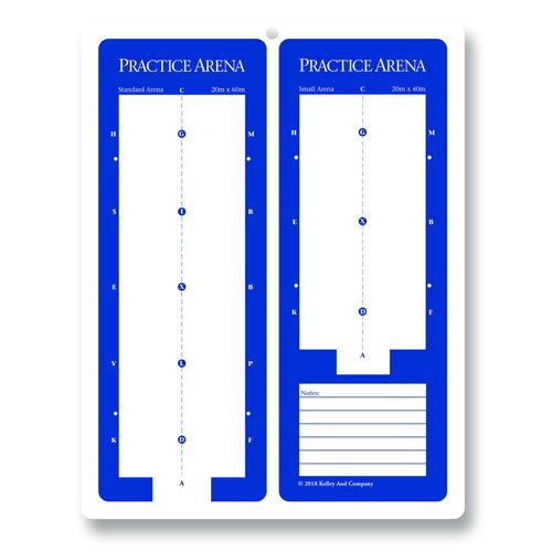 Kelley and Company Dry Erase Practice Dressage Arena Board - Blue