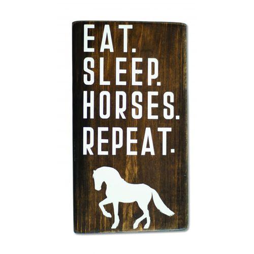 Kelley and Company Shelf Sitter - Eat Sleep Horses