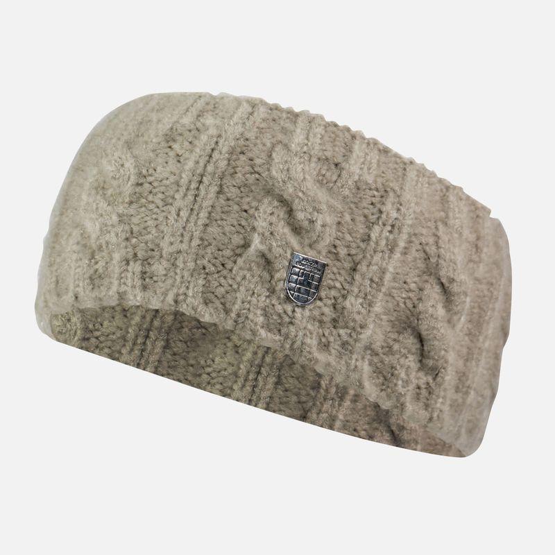 Cashmere Blend Women/'s Headband Taupe Stone Embellishments