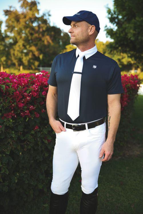 Romfh Men's Polo Short Sleeve Show Shirt - Navy/White