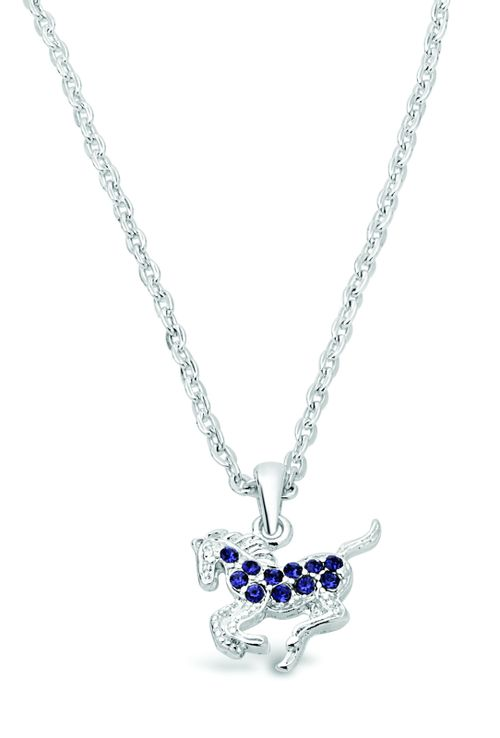 Kelley and Company Galloping Horse Necklace - Purple