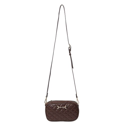 Kelley and Company Snaffle Bit Quilted Convertible Cross Body and Waist Bag - Brown
