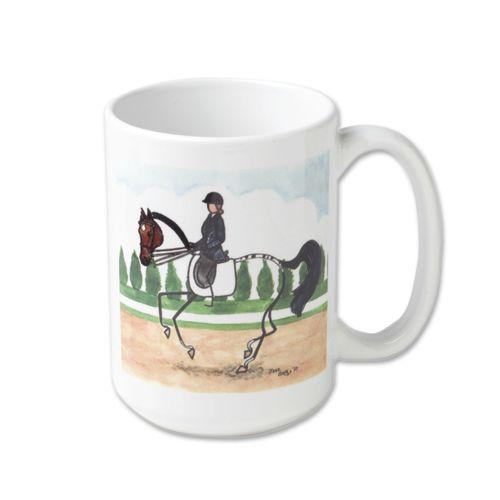 Kelley and Company Stick Horse Ceramic Mug - Dressage
