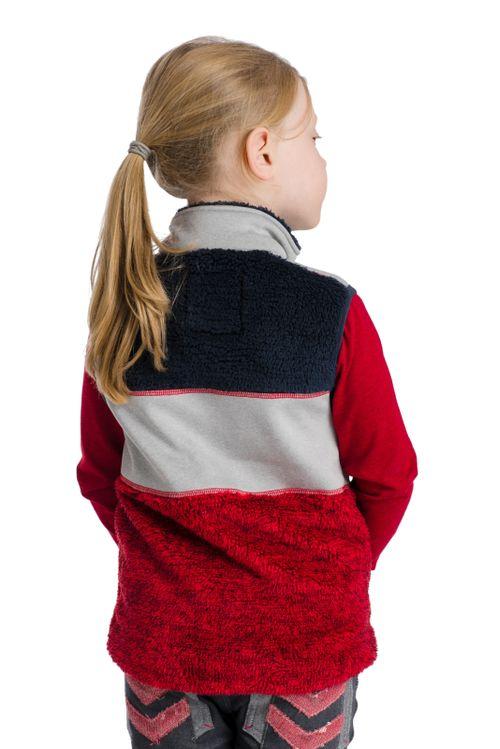 Horseware Kids' Sherpa Vest - Red/Grey/Navy