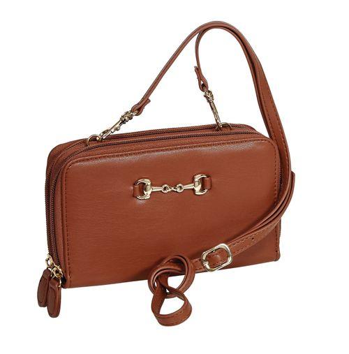 Kelley and Company Snaffle Bit Cross Body Wallet Bag - Brown